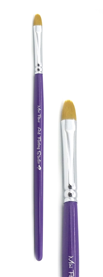 Art Factory small Filbert Brush made to create face painting designs such as superhero masks on the fly.