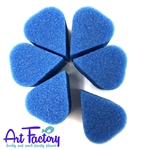 6 petal sponges for face painting made by the Art factory