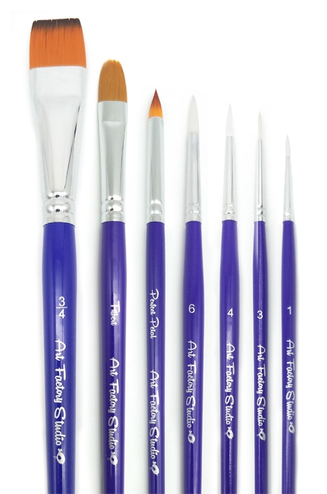 the best face painting brushes by art factory