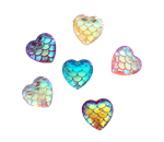 Mermaid Scale Heart Gems for face painting bling, gem clusters, glitter paint, face painting, gems, rhinestones, stick on rhinestones