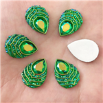 Green Envy Raindrop Gems  for face painting bling, gem clusters, glitter paint, face painting, gems, rhinestones, stick on rhinestones