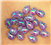 Petite Purple Teardrop Gems  for face painting bling, gem clusters, glitter paint, face painting, gems, rhinestones, stick on rhinestones