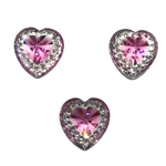 Pink Rhinestone Heart Gems  for face painting bling, gem clusters, glitter paint, face painting, gems, rhinestones, stick on rhinestones