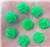 Electric Green Flower Gems  for face painting bling, gem clusters, glitter paint, face painting, gems, rhinestones, stick on rhinestones