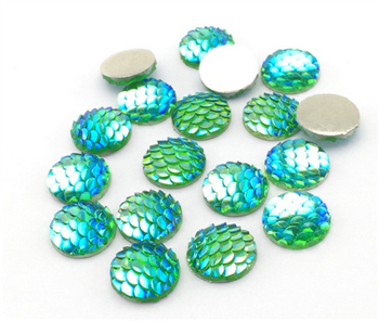 Round Mini Light Green Scale Gems for face painting bling, gem clusters, glitter paint, face painting, gems, rhinestones, stick on rhinestones