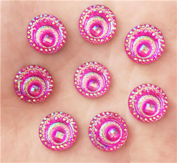 Hot Pink Circle Gem for face painting bling, gem clusters, glitter paint, face painting, gems, rhinestones, stick on rhinestones
