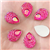 Hot Pink Raindrop Gems  for face painting bling, gem clusters, glitter paint, face painting, gems, rhinestones, stick on rhinestones