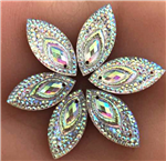 Large Iridescent Navette Gems for face painting bling, gem clusters, glitter paint, face painting, gems, rhinestones, stick on rhinestones