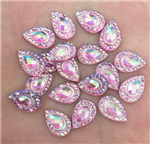 Petite Light Pink Teardrop Gems  for face painting bling, gem clusters, glitter paint, face painting, gems, rhinestones, stick on rhinestones