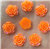 Orange Flower Gems  for face painting bling, gem clusters, glitter paint, face painting, gems, rhinestones, stick on rhinestones