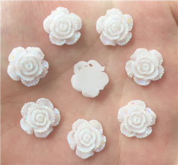 White Flower Gems  for face painting bling, gem clusters, glitter paint, face painting, gems, rhinestones, stick on rhinestones