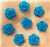 Blue Flower Gems  for face painting bling, gem clusters, glitter paint, face painting, gems, rhinestones, stick on rhinestones