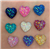 Confetti Heart Gems in an assortment of colors  for face painting bling, gem clusters, glitter paint, face painting, gems, rhinestones, stick on rhinestones
