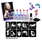 Glitter Tattoo Kit, Glimmer tattoo Party Kit