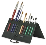 Folding brush holder case that holds 12 brushes
