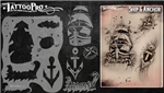 Tattoo Pro Stencils by Wiser - Ship & Anchor Stencil