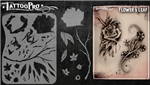 Tattoo Pro Stencils by Wiser - Flower & Leaf Stencil