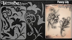 Tattoo Pro Stencils by Wiser - Fancy Lily Stencils
