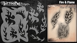 Tattoo Pro Stencils by Wiser - Fire & Flame Stencil