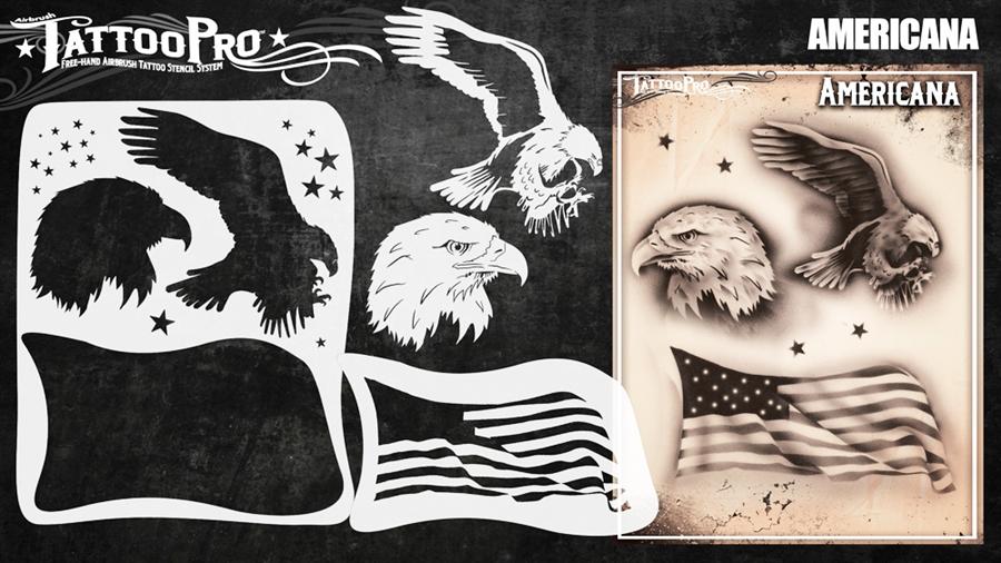 Wiser's Americana Airbrush Tattoo Pro Stencil Series 4