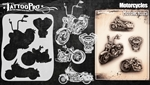 Tattoo Pro Stencils by Wiser - Motorcycles Stencil