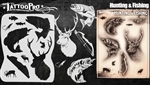 Tattoo Pro Stencils by Wiser - Hunting & Fishing Stencil