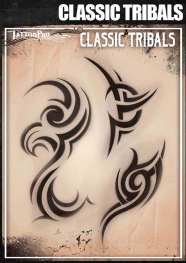 8e7b06704 Tattoo Pro Stencils by Wiser - Classic Tribal Airbrush Stencils