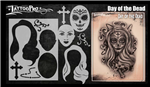 Tattoo Pro Stencils by Wiser - Day of the Dead Stencils