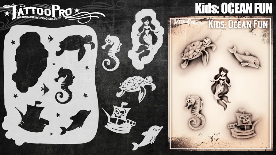 Tattoo Pro Stencils by Wiser - Ocean Fun Stencils