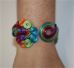 face painting accessories, wire jewelry, aluminum jewelry, rainbow necklace