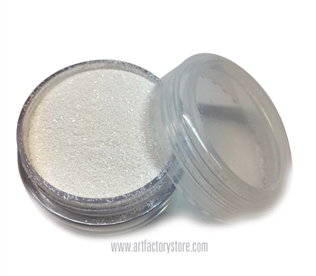 Bridal white glitter by the art factory