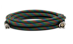 "Iwata 10' Braided Nylon Covered Airbrush Hose with Iwata airbrush fitting and 1/4"" compressor fitting"