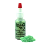 Tag Spring Green glitter