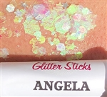 Creative Faces Glitter Sticks in Angela, silver glitter for face and body art