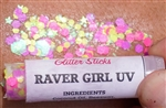 Creative Faces Glitter Sticks in Raver Girl UV glitter for face and body art