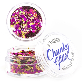Vegas Chunky loose glitter made using cosmetic grade chunky glitters.
