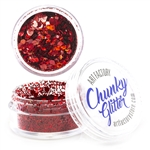 Cherry Bomb Red  Chunky loose glitter made using cosmetic grade chunky glitters.