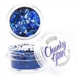 abyss Chunky loose glitter made using cosmetic grade chunky glitters.