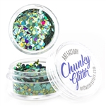 Mermaid Chunky loose glitter made using cosmetic grade chunky glitters.