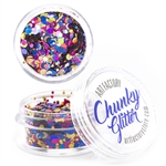 Fiesta Chunky loose glitter made using cosmetic grade chunky glitters.