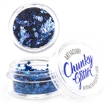Blue stars Chunky loose glitter made using cosmetic grade chunky glitters.