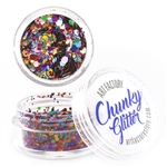 Rainbow pride Chunky loose glitter made using cosmetic grade chunky glitters.