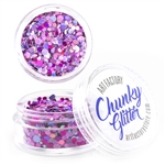 Diva Pink Chunky loose glitter made using cosmetic grade chunky glitters.