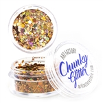 Chunky loose glitter made using cosmetic grade chunky glitters.