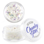 Snowflake Chunky loose glitter made using cosmetic grade chunky glitters.