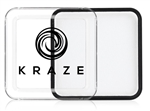 Kraze White Wax-based, highly pigmented, water activated makeup for face and body painting.