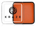 Kraze Orange Wax-based, highly pigmented, water activated makeup for face and body painting.