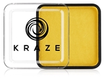 Kraze Yellow Wax-based, highly pigmented, water activated makeup for face and body painting.