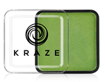 Kraze Lime Green Wax-based, highly pigmented, water activated makeup for face and body painting.