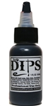 Black Dips 1 oz bottle of waterproof liquid face paints bu ProAiir